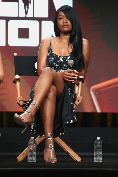 Keke Palmer of the series 'Berlin Station' speaks onstage during the EPIX portion of the 2017 Summer Television Critics Association Press Tour at The Beverly Hilton Hotel on July 25, 2017 in Beverly Hills, California.