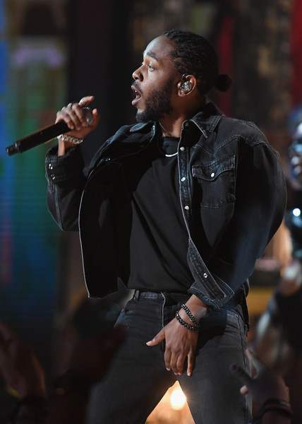 Kendrick Lamar onstage at 2017 BET Awards at Microsoft Theater on June 25, 2017 in Los Angeles, California.