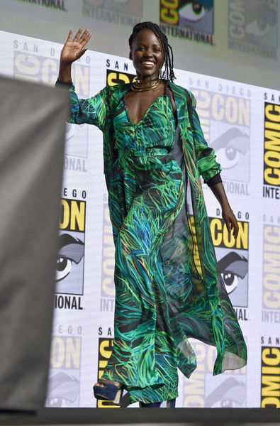 Actor Lupita Nyong'o from Marvel Studios' 'Black Panther' at the San Diego Comic-Con International 2017 Marvel Studios Panel in Hall H on July 22, 2017 in San Diego, California.