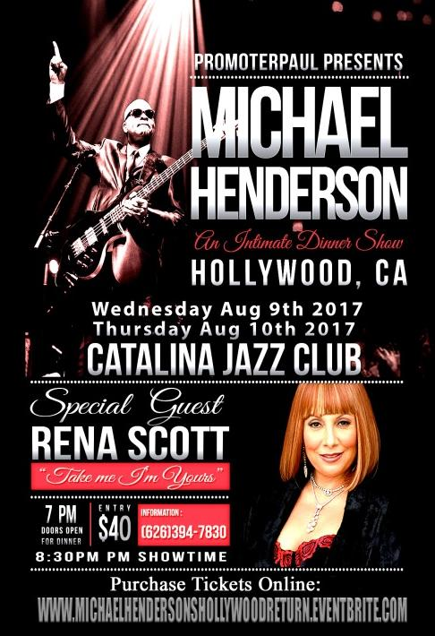 Michael Henderson and Rena Scott Catalina Jazz Club in Hollywood Ad