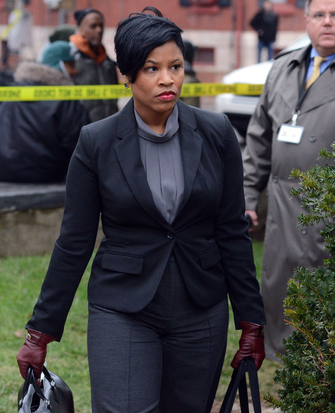 Comedian Bill Cosby's attorney Monique Pressley arrives for his preliminary hearing for sexual assault charges at the Montgomery County Courthouse February 3, 2016 in Norristown, Pennsylvania.