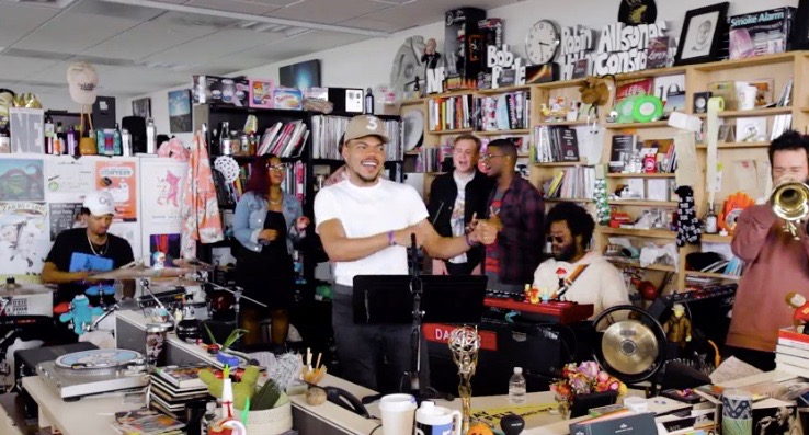 Chance the Rapper performs in NPR's Tiny Desk Series