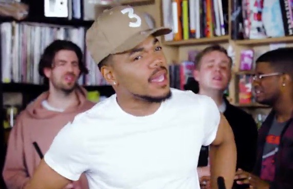 Watch Chance The Rapper Get Emotional For NPR's Tiny Desk Concert