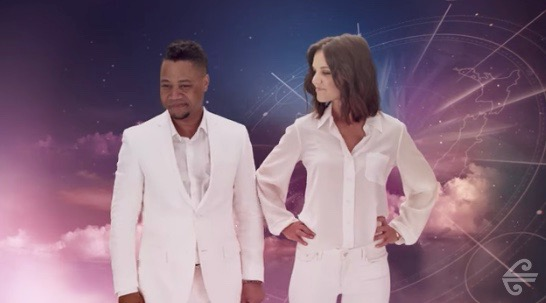 """Cuba Gooding Jr. and Katie Holmes in """"A Fantastical Journey"""" for Air New Zealand"""