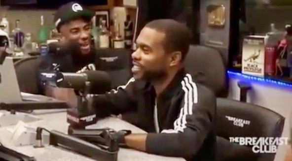 Charlamagne Tha God (L) and Lil Duval on The Breakfast Club (July 28, 2017)