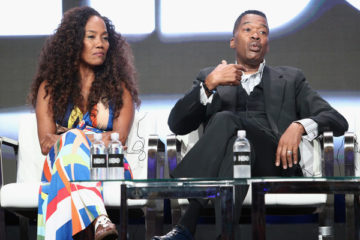 (L-R) Director Sonja Sohn and Baltimore PD Chief Melvin Russell of 'Baltimore Rising' speak onstage during the HBO portion of the 2017 Summer Television Critics Association Press Tour at The Beverly Hilton Hotel on July 26, 2017 in Beverly Hills, California.
