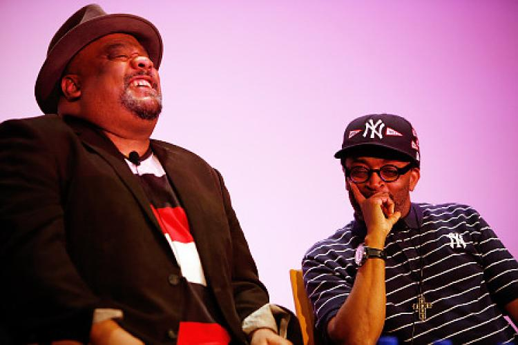 Stew (L) and Spike Lee at the Tribeca Film Festival