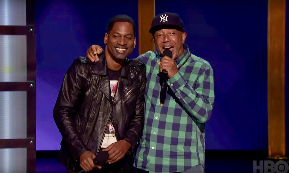 Tony Rock and Russell Simmons
