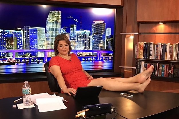 Ana Navarro Feet On Desk