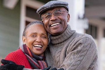 black - african american - senior couple