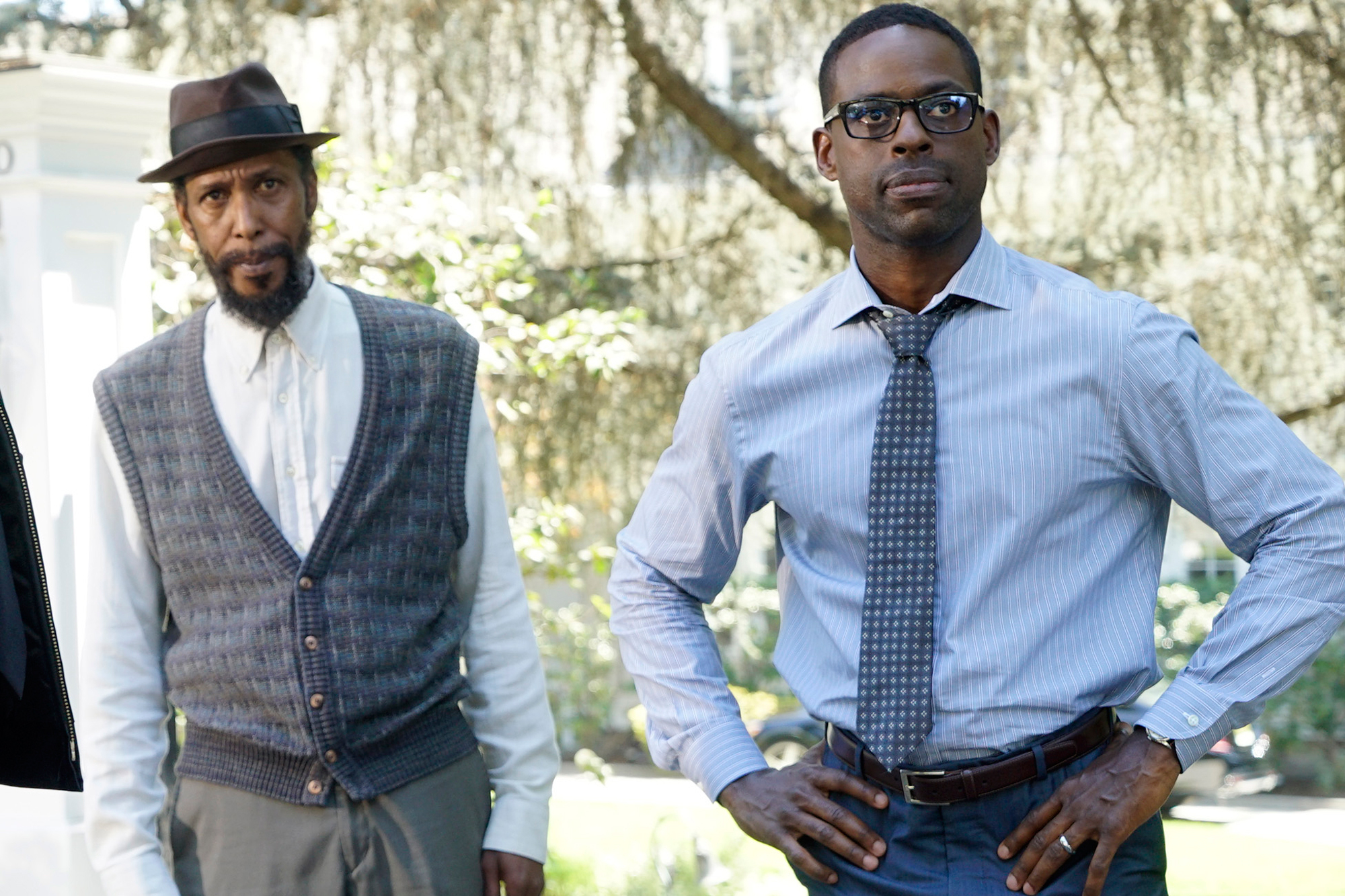 "Emmy nominees Ron Cephas Jones and Sterling K. Brown in NBC's ""This is Us"""