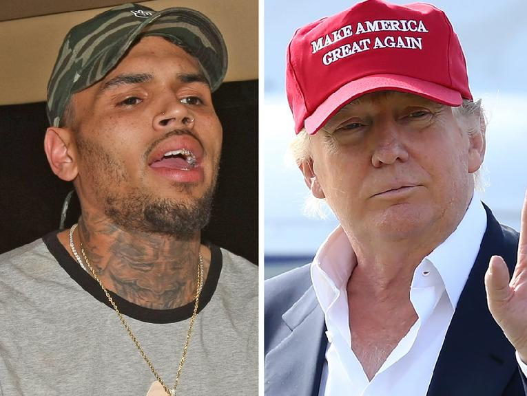 chris brown - donald trump