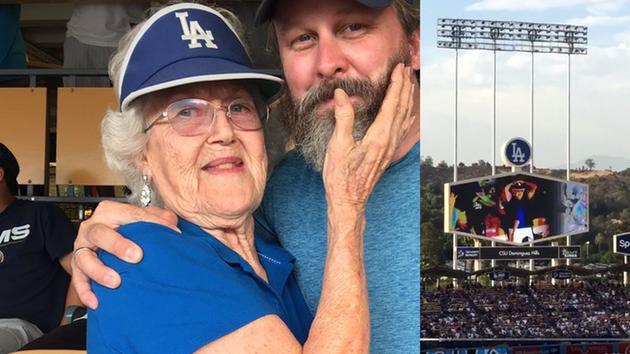 granny flasher - dodger stadium