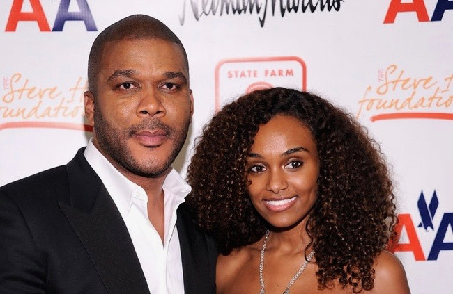 Tyler Perry and Gelila Bekele (Dimitrios Kambouris/Getty Images)