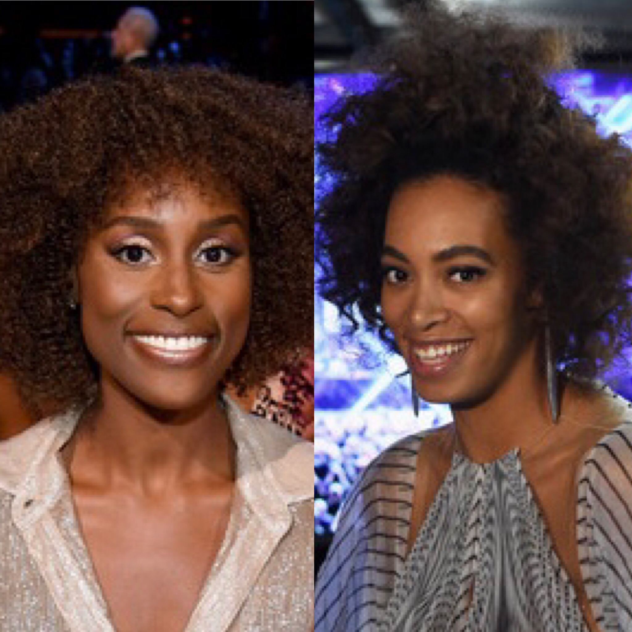 Issa Rae (L) and Solange Knowles (Getty Images)