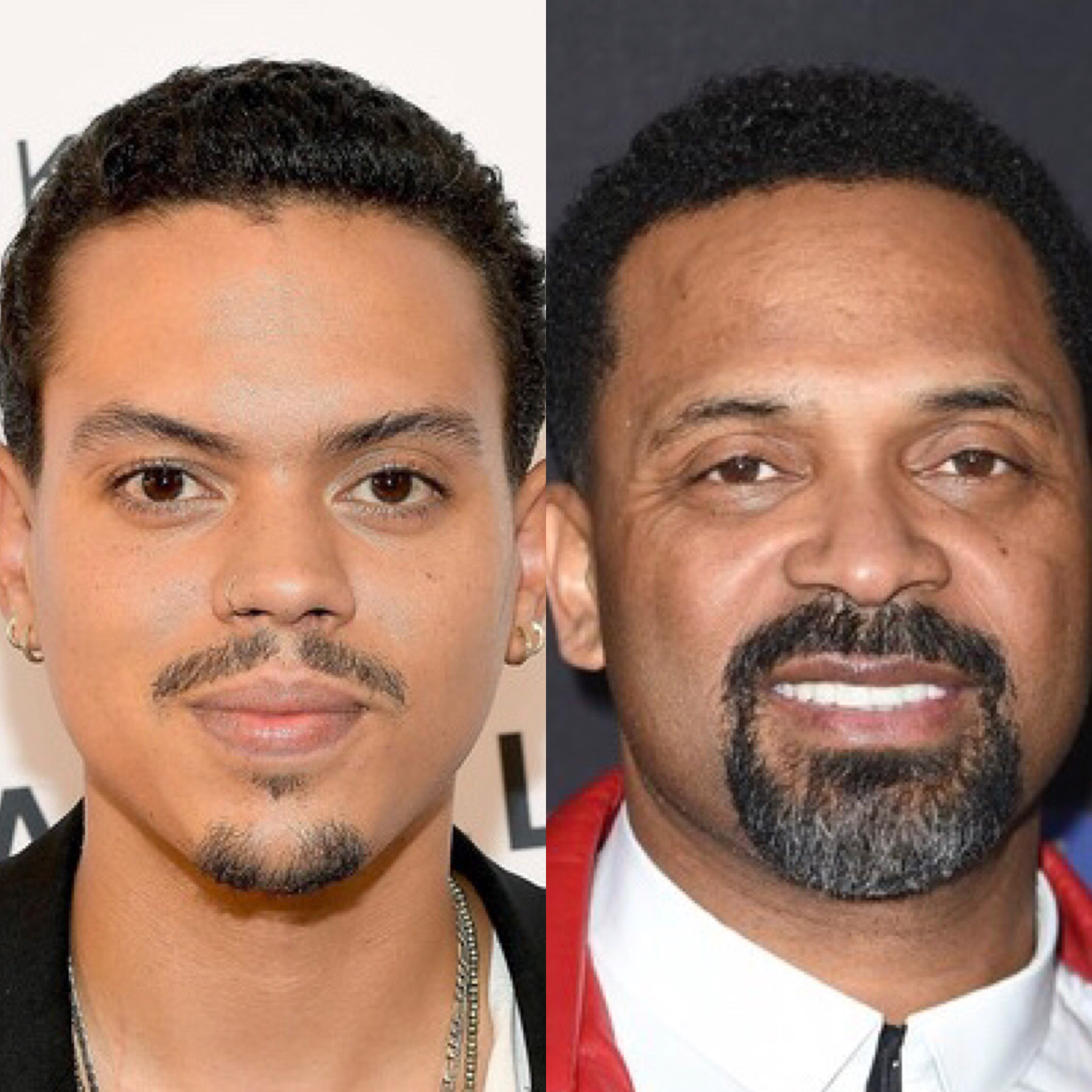 Evan Ross (L) and Mike Epps