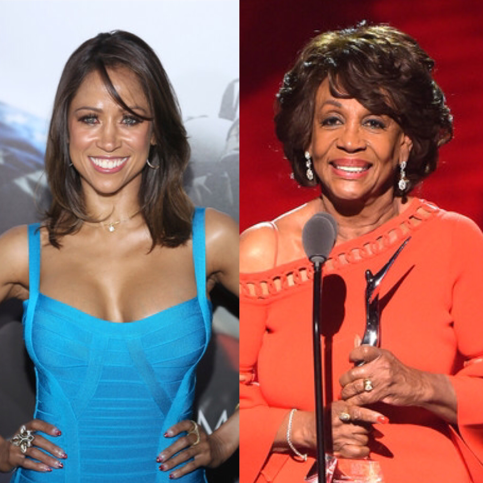 Stacey Dash (L) and Rep. Maxine Waters
