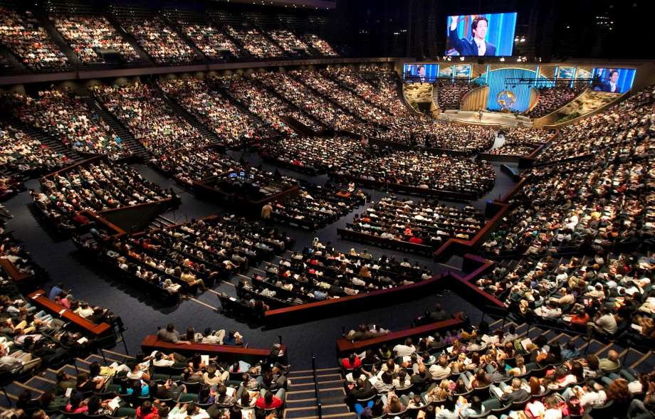 Joel Osteen's 16,800 seat Lakewood Church in Houston