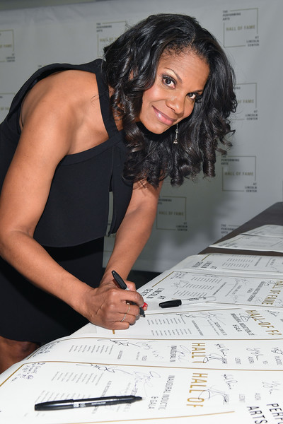 Hall of Fame Inductee, Audra McDonald poses backstage at the Lincoln Center Hall Of Fame Gala at the Alice Tully Hall on June 6, 2017 in New York City.