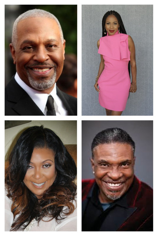 (L-R) James Pickens Jr, Grey's Anatomy, Danielle Mone' Truitt, Rebel, Lisa Ruffin (Actress/Pageant Founder) and Keith David, Greenleaf