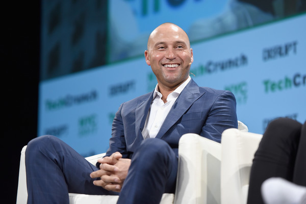 Derek Jeter speaks onstage during TechCrunch Disrupt NY 2017 at Pier 36 on May 15, 2017 in New York City.