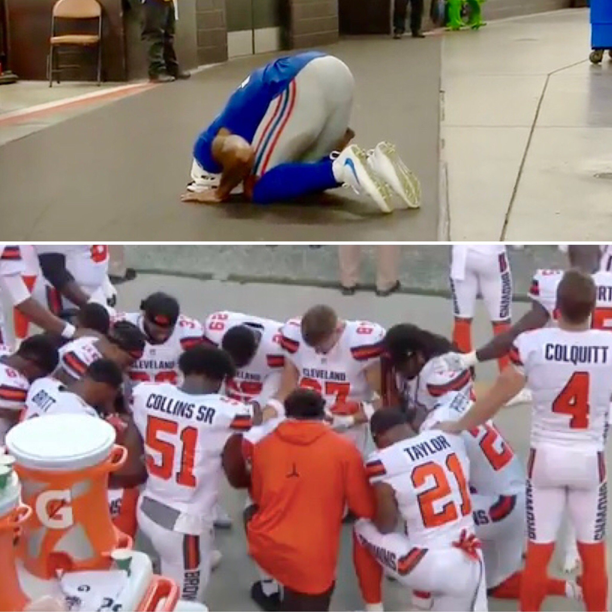 Brownsgiants cleveland players take knee during anthem odell brownsgiants cleveland players take knee during anthem odell beckham jr injured m4hsunfo