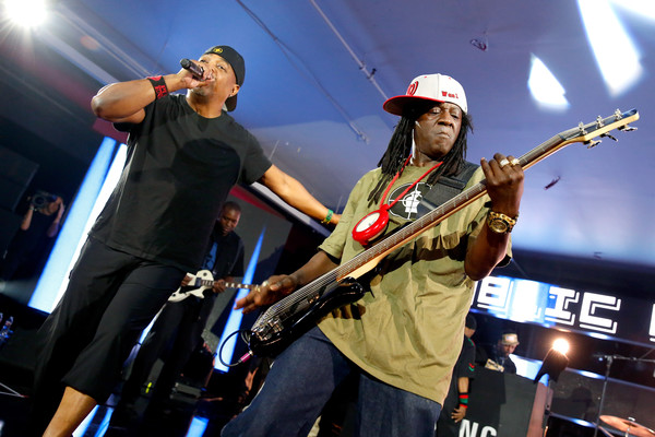 Rappers Chuck D (L) and Flavor Flav of Public Enemy perform onstage at Samsung Galaxy Life Fest at SXSW 2016 on March 12, 2016 in Austin, Texas.
