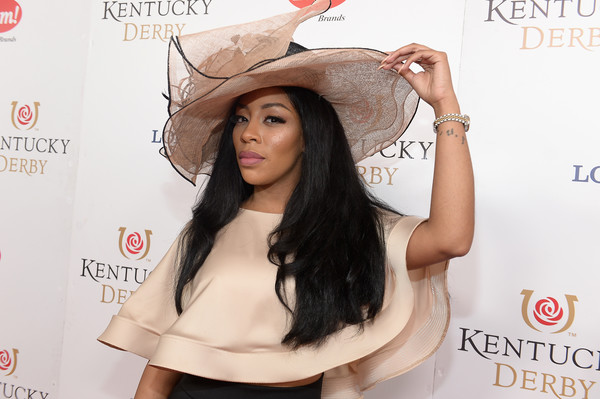 Singer K. Michelle attends the 142nd Kentucky Derby at Churchill Downs on May 07, 2016 in Louisville, Kentucky.