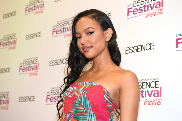 Karrueche Tran poses in the press room at the 2017 ESSENCE Festival presented by Coca-Cola at Ernest N. Morial Convention Center on July 1, 2017 in New Orleans, Louisiana.