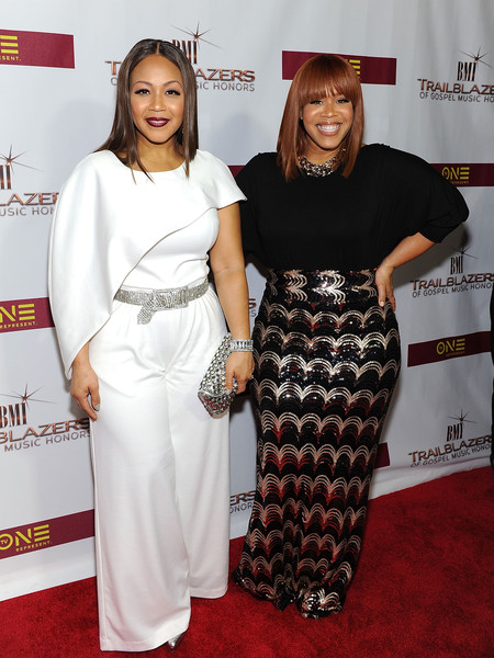 Erica Campbell and Tina Campbell of Mary Mary attend 2016 BMI Trailblazers of Gospel Music Award Show at Rialto Center for the Arts on January 16, 2016 in Atlanta, Georgia.