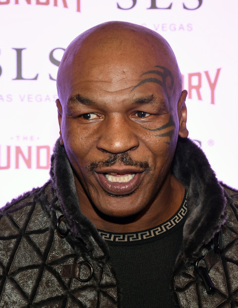 "Former boxer Mike Tyson arrives at the kickoff of Dana Carvey and Jon Lovitz's 20-show residency ""Reunited"" at The Foundry at SLS Las Vegas on January 6, 2017 in Las Vegas, Nevada."