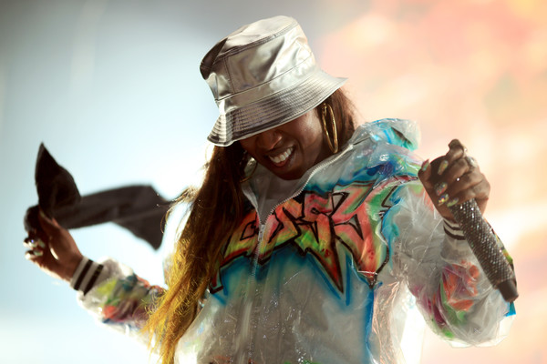 Missy Elliott performs onstage during day 1 of FYF Fest 2017 on July 21, 2017 at Exposition Park in Los Angeles, California.