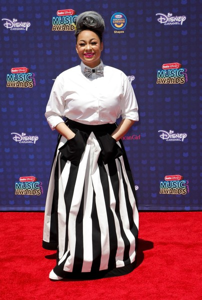 Raven-Symone attends the Radio Disney Music Awards (RDMAs) at the Microsoft Theater, in Los Angeles, California, on April 29, 2017.