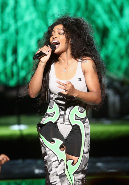 SZA performs onstage at 2017 BET Awards at Microsoft Theater on June 25, 2017 in Los Angeles, California.