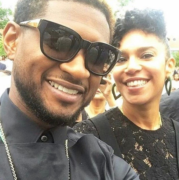 Usher's Wife Grace Miguel Paying No Mind to his Herpes Scandal