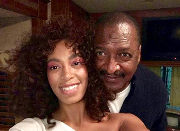 Solange and Mathew Knowles (Instagram)