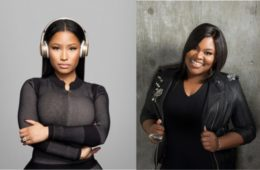 NIcki MInaj (L) and Tasha Cobbs Leonard
