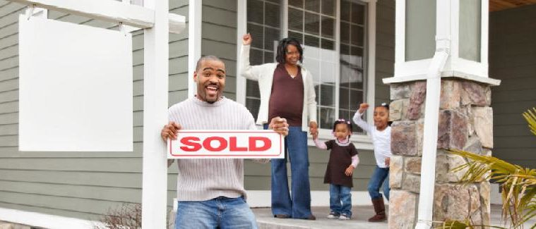 african american family - new home owners