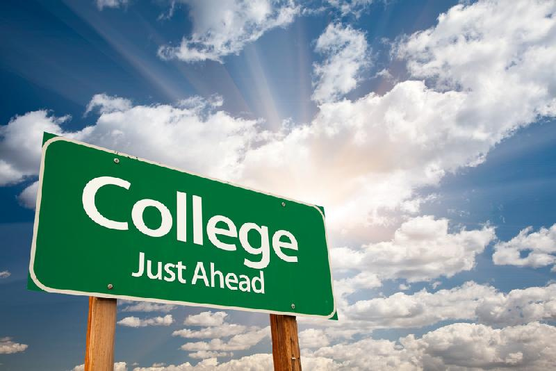college - college just ahead