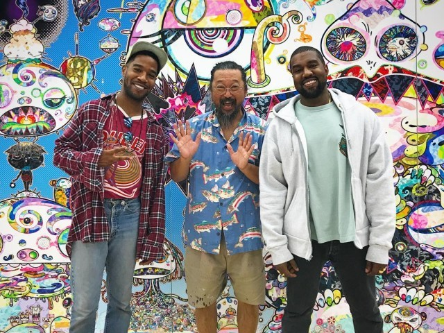 Kid Cudi, Takashi Murakami and Kanye West