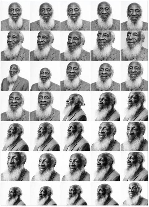 dick gregory - multiple pics b&w