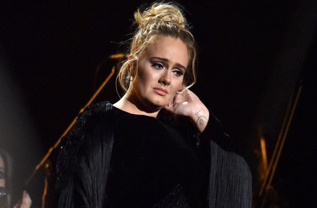 LOS ANGELES, CA - FEBRUARY 12: Singer-songwriter Adele performs George Michael tribute onstage during The 59th GRAMMY Awards at STAPLES Center on February 12, 2017 in Los Angeles, California.  (Photo by Lester Cohen/Getty Images for NARAS)