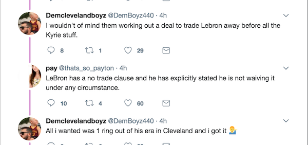 to leave cavs