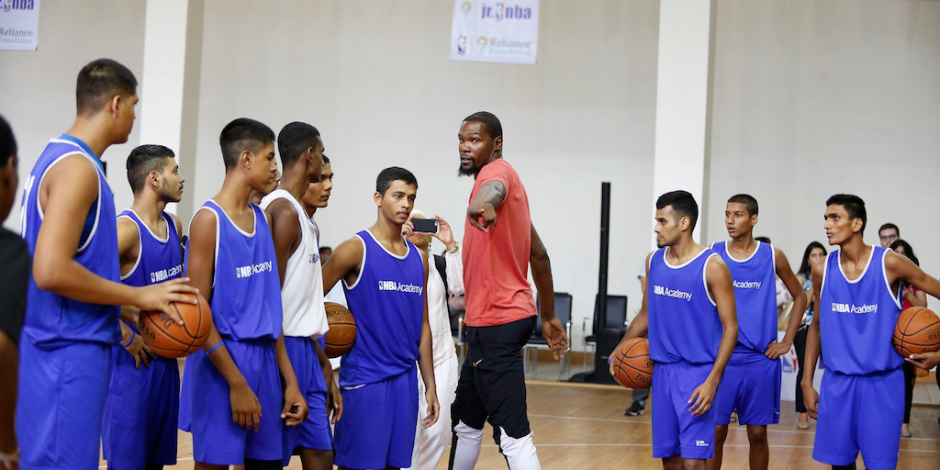 kevin durant - coaching in india