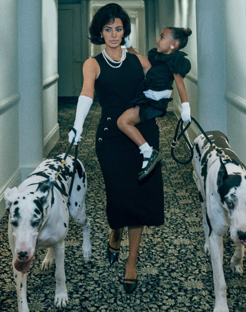 Kim Kardashian and daughter North in the September issue of Interview (Steven Klein)