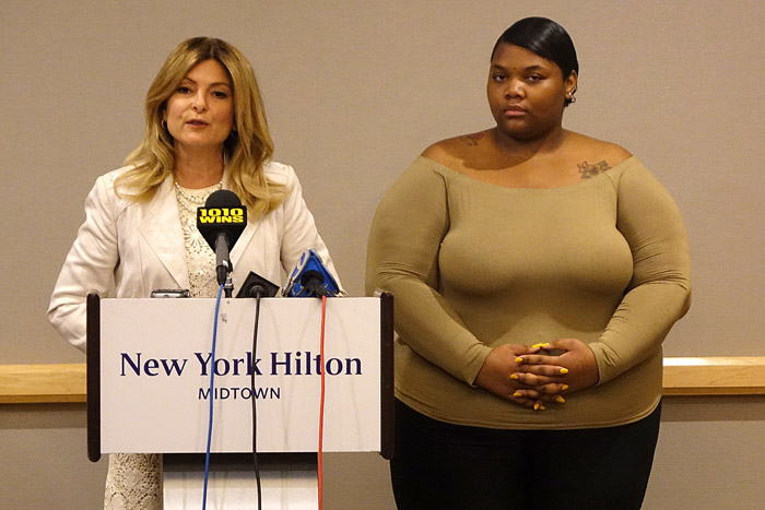 Lisa Bloom with client Quantisia Sharpton
