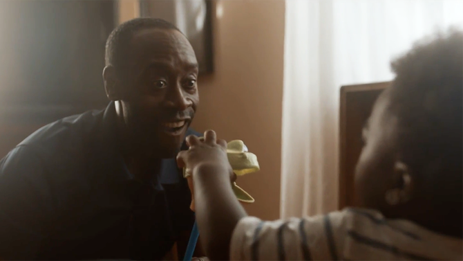 "Don Cheadle in music video for Logic track ""1-800-273-8255"""