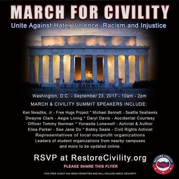 march for civility - poster
