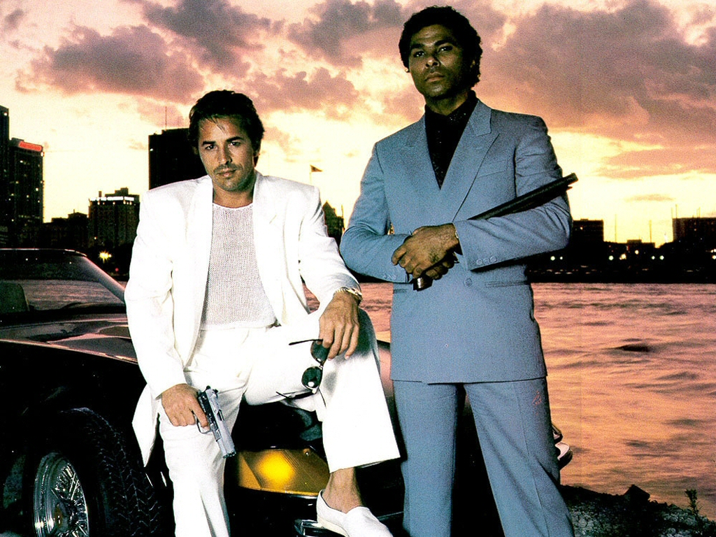 Don Johnson (L) and Philip Michael Thomas (Miami Vice)