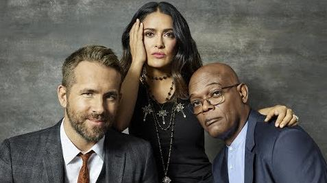 ryan reynolds salma hayek sam jackson - the